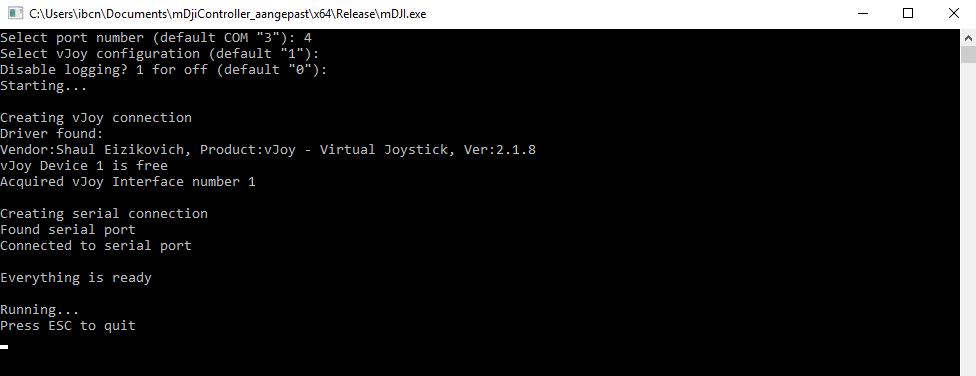 Using a Phantom 2 DJI Controller in AirSim